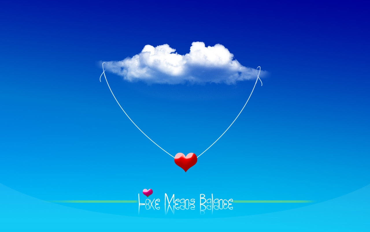 Love means balance wallpapers