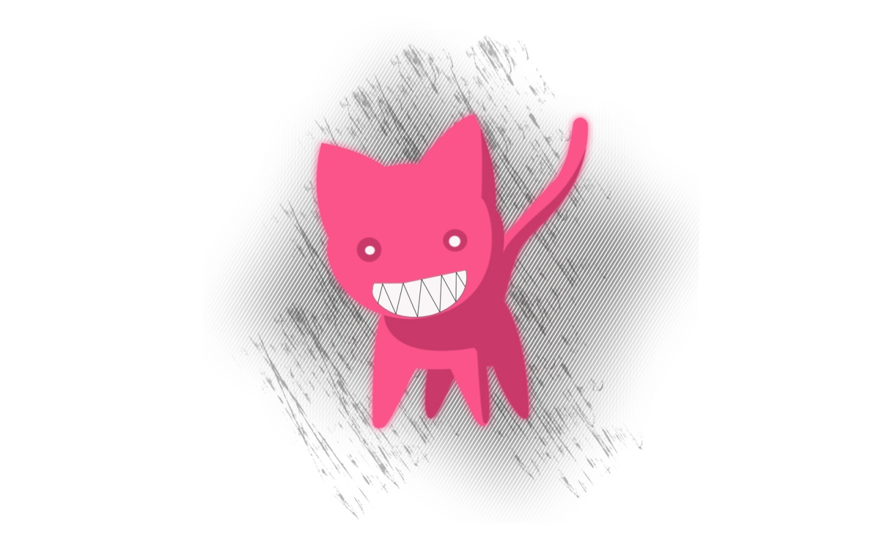 Pink cat sketch wallpapers