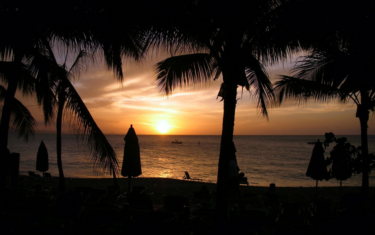 Caribbean sundown wallpapers