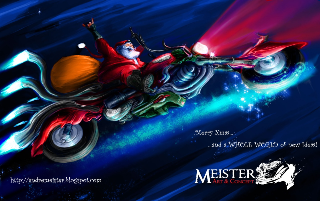 Biker Santa wallpapers