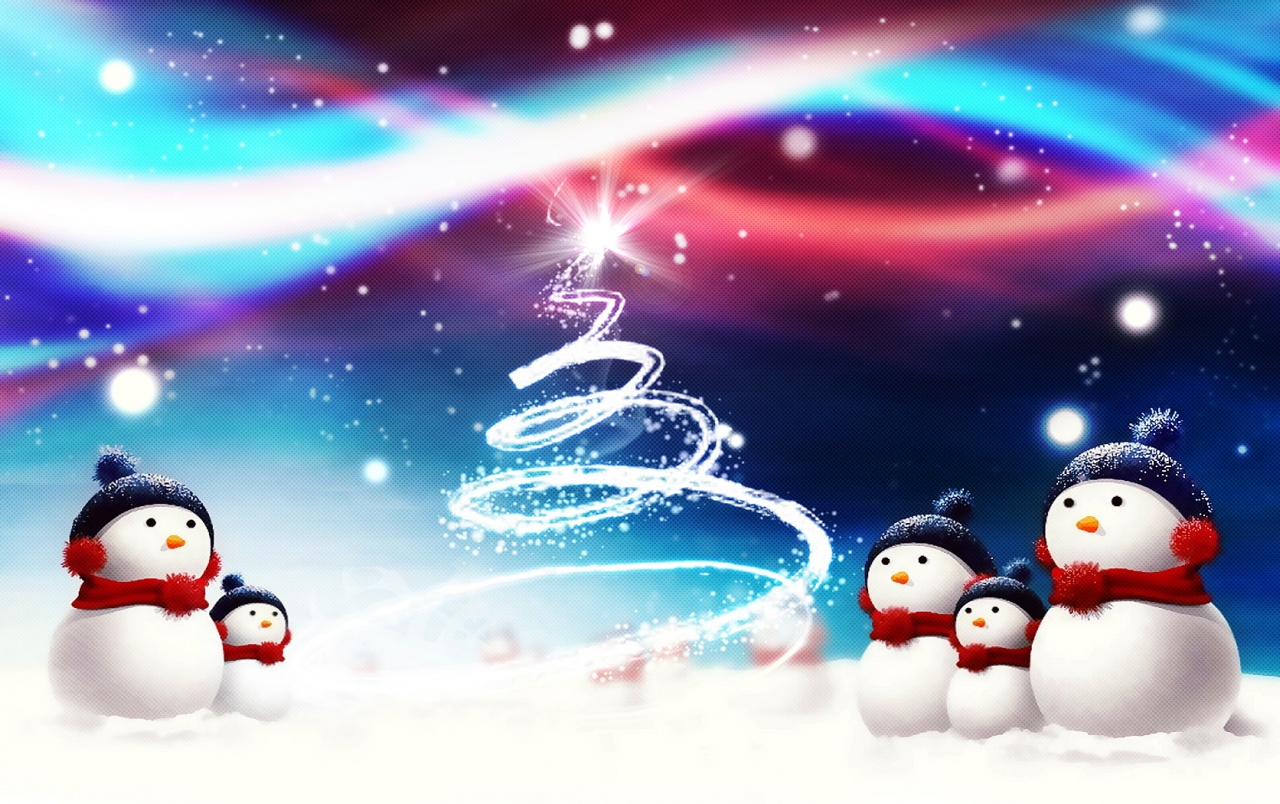 Christmas snowmen wallpapers