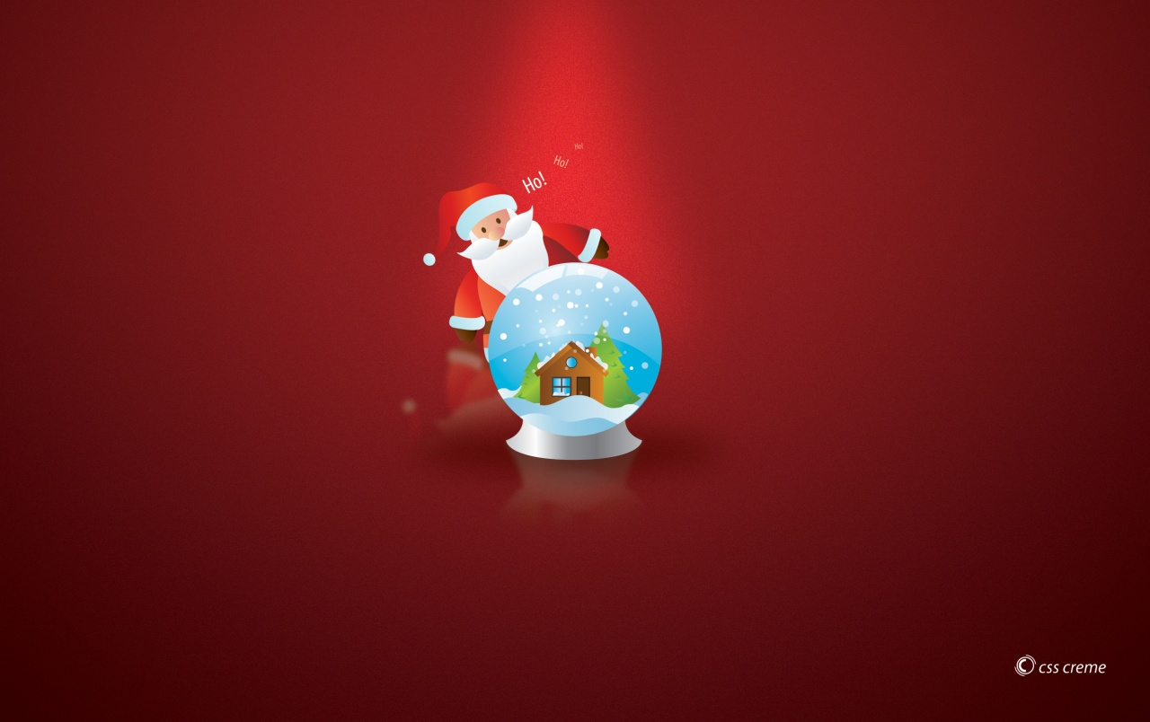 Santa with globe wallpapers