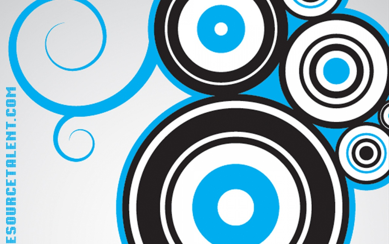 One Source Talent Blue Circles wallpapers