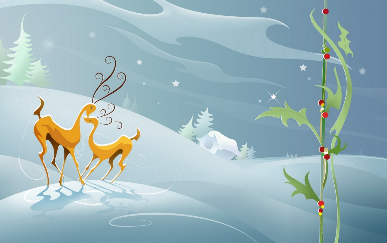 Reindeers love wallpapers