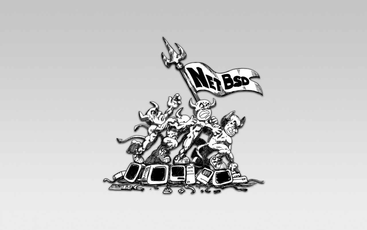 NetBSD deamons 2 wallpapers
