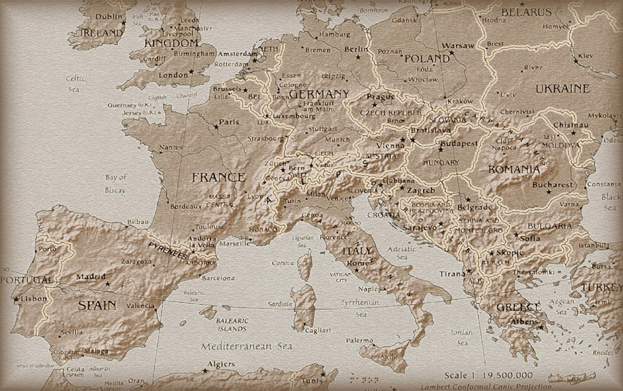 Europe old map wallpapers