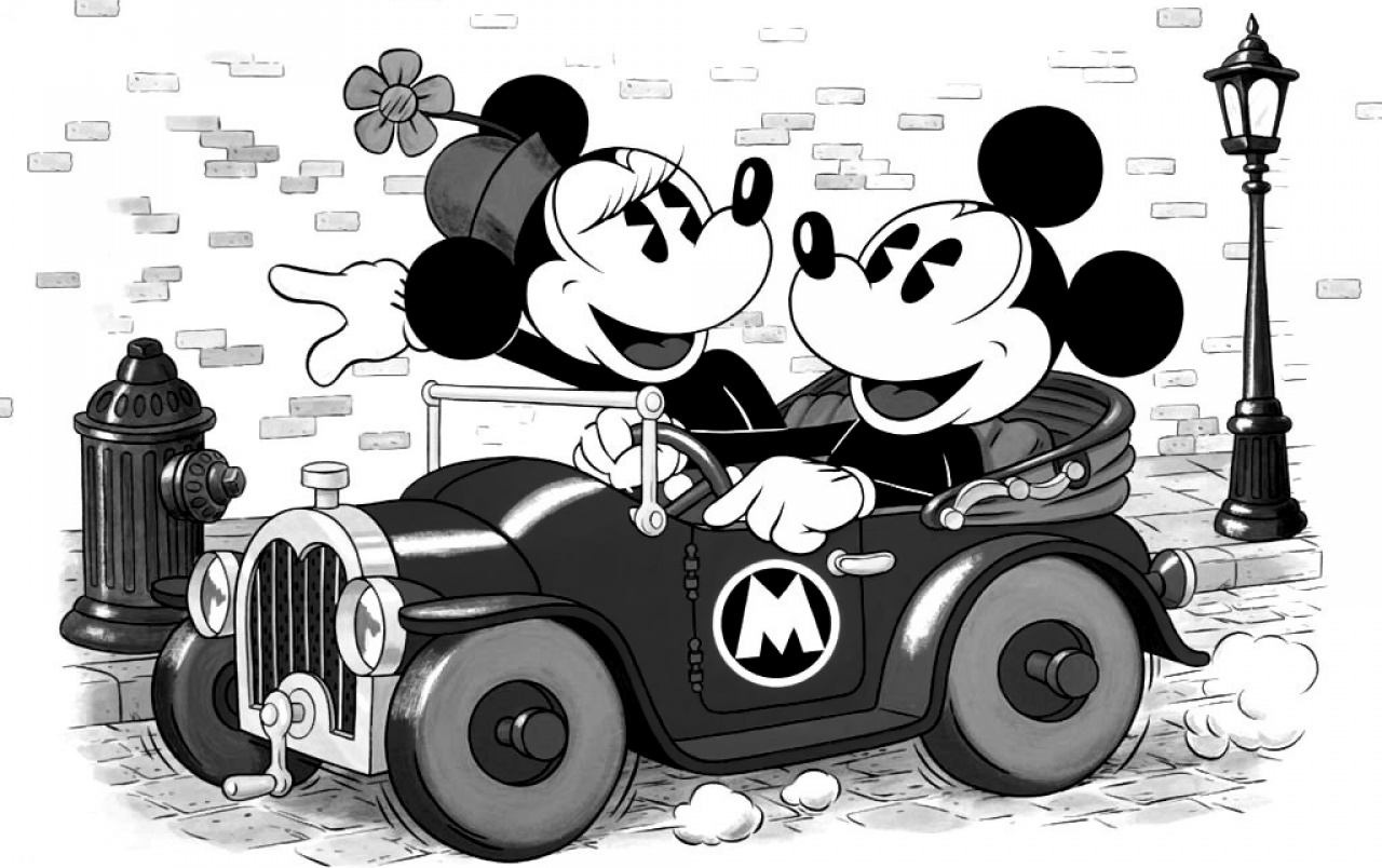 Mickey and minnie wallpapers mickey and minnie stock photos - Mickey mouse retro wallpaper ...
