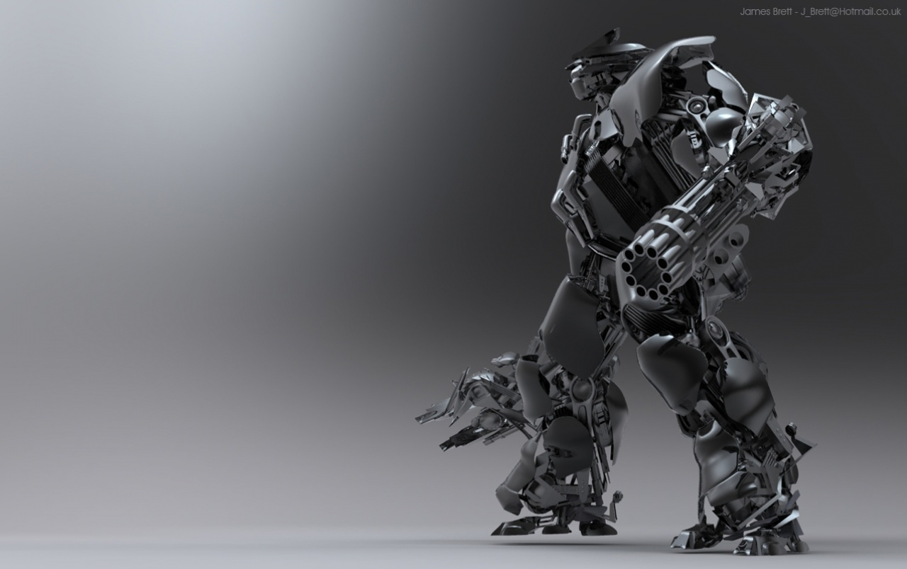 James Brett Mecha-Roboter 3d wallpapers