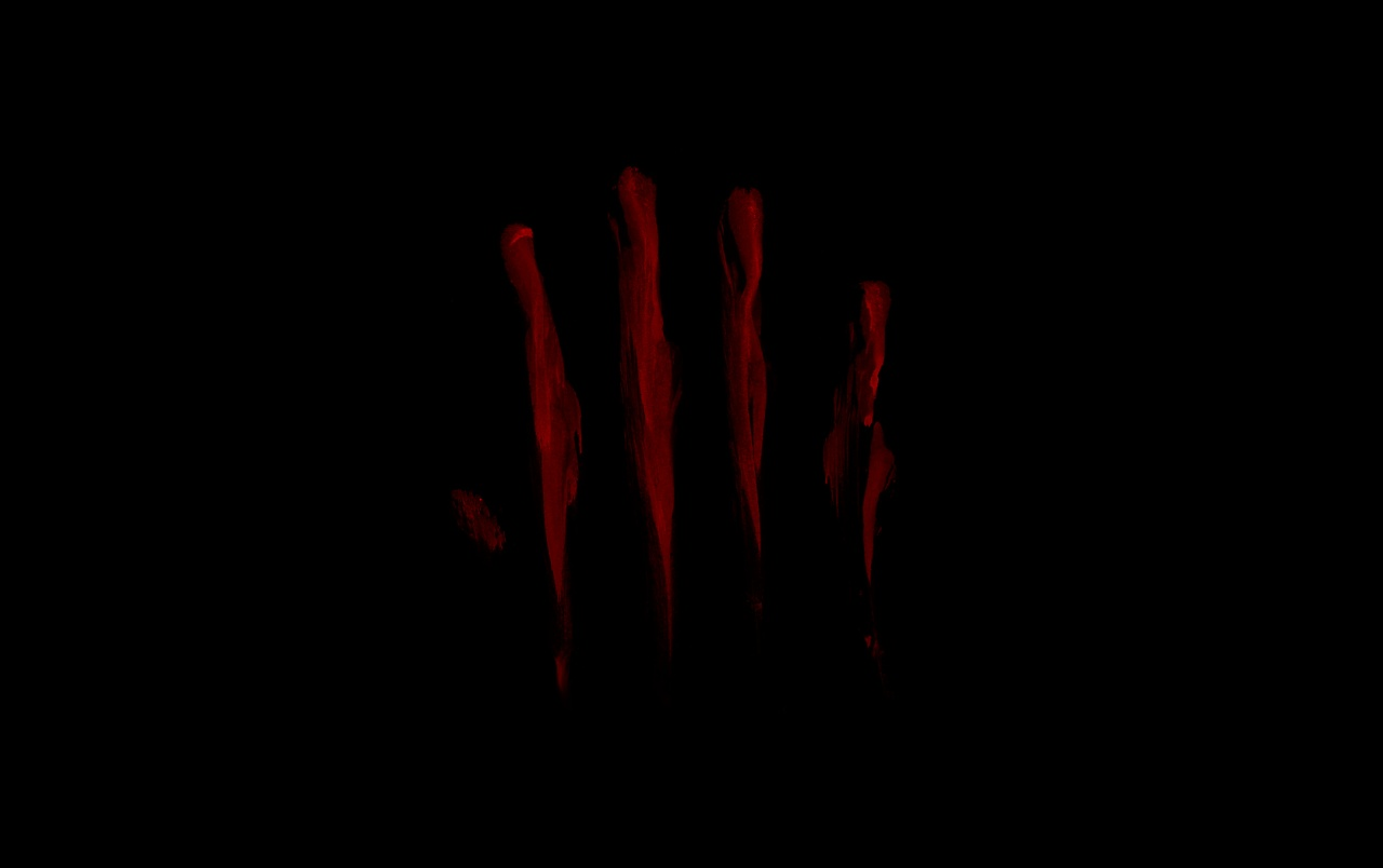 OriginalWide Bloody Finger Smear Wallpapers