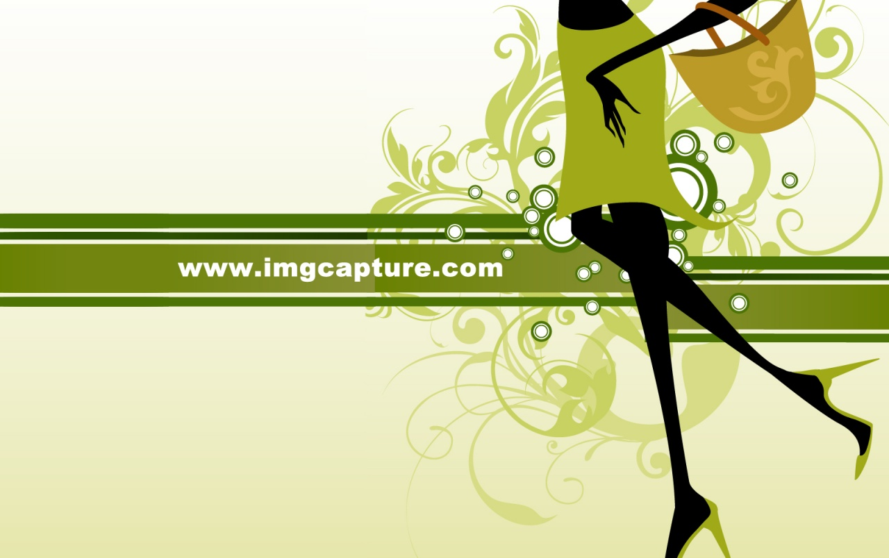 Green Fashion Pattern Girl wallpapers
