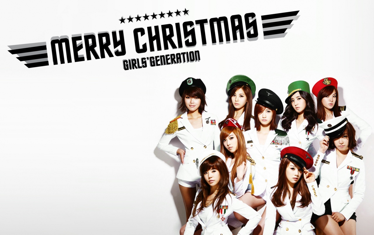 SNSDs Christmas Wallpaper v3 wallpapers