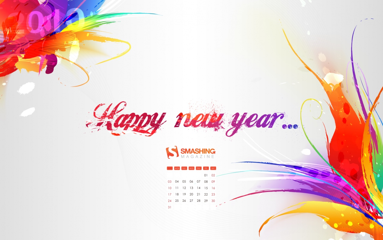 wide happy new year wallpapers