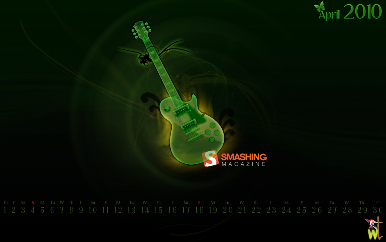 Green guitar wallpapers