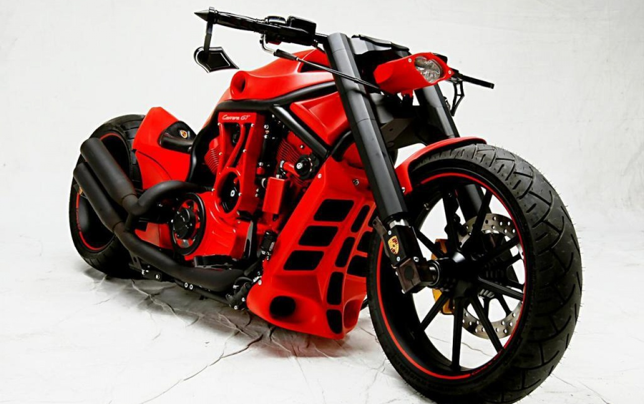 Porsche Custom Motorcycle: PORSCHE CUSTOM BIKE Wallpapers