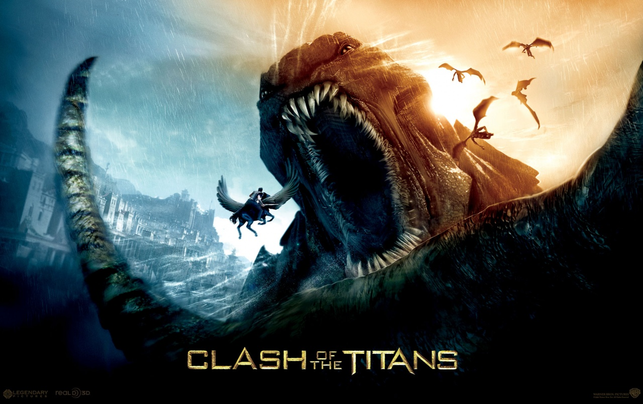 Clash of the Titans - furious monster wallpapers