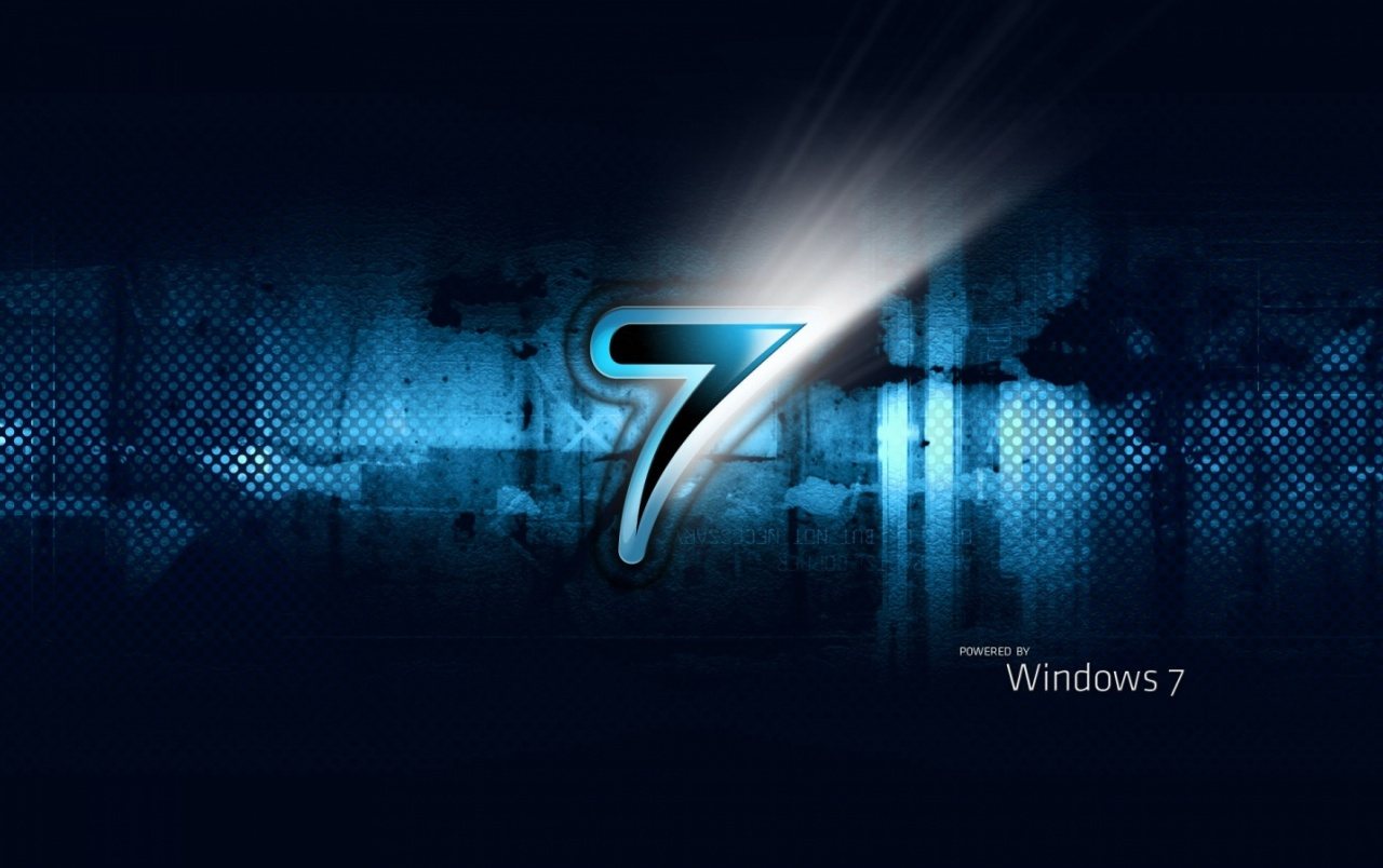 Powered by Windows 7 wallpapers