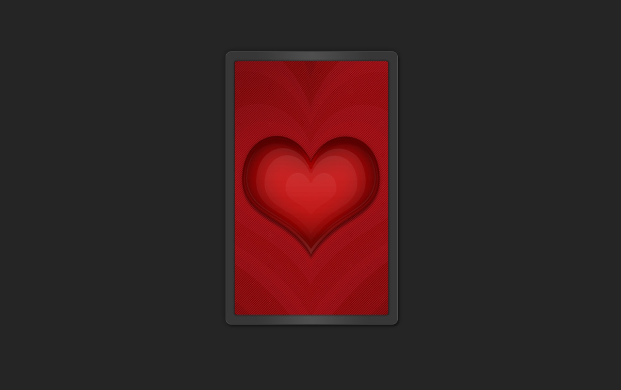 Heart on black wallpapers