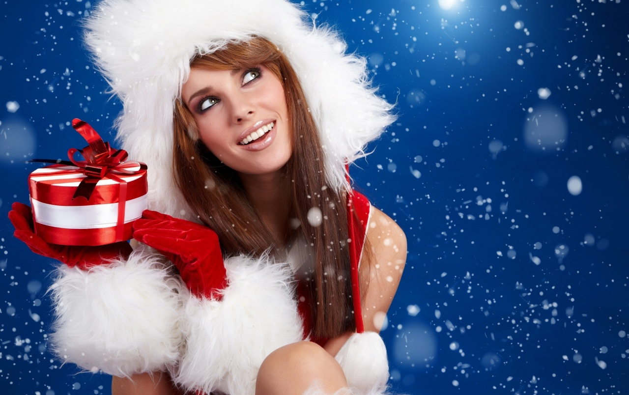 She is Santa Claus wallpapers