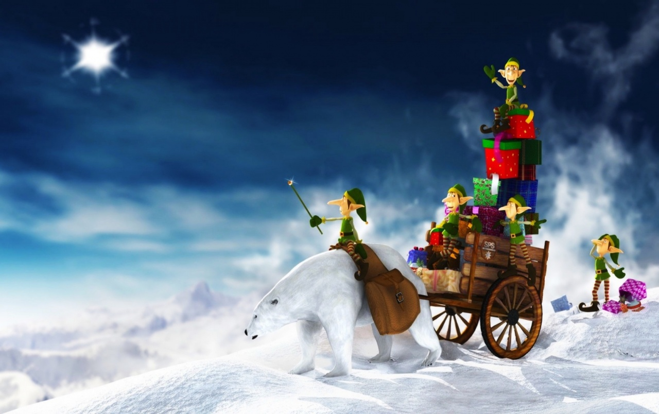 2011 Christmas Elfs Gifts wallpapers