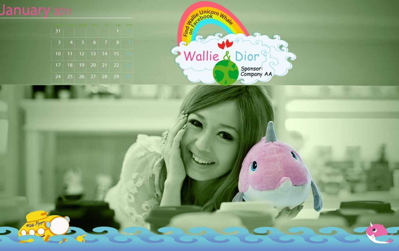 Calendar 2011 - January wallpapers