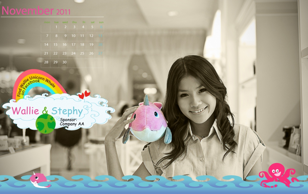 Calendar 2011 - November wallpapers