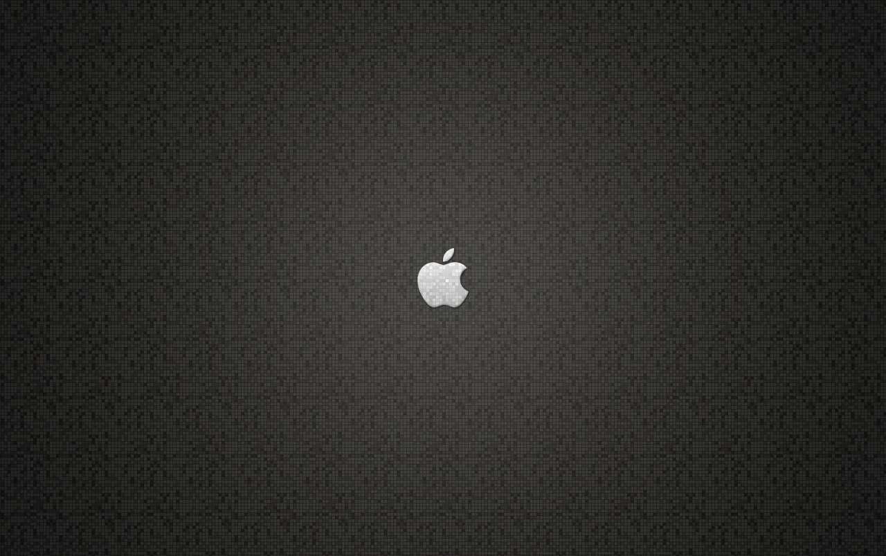 Grey Apple logo wallpapers