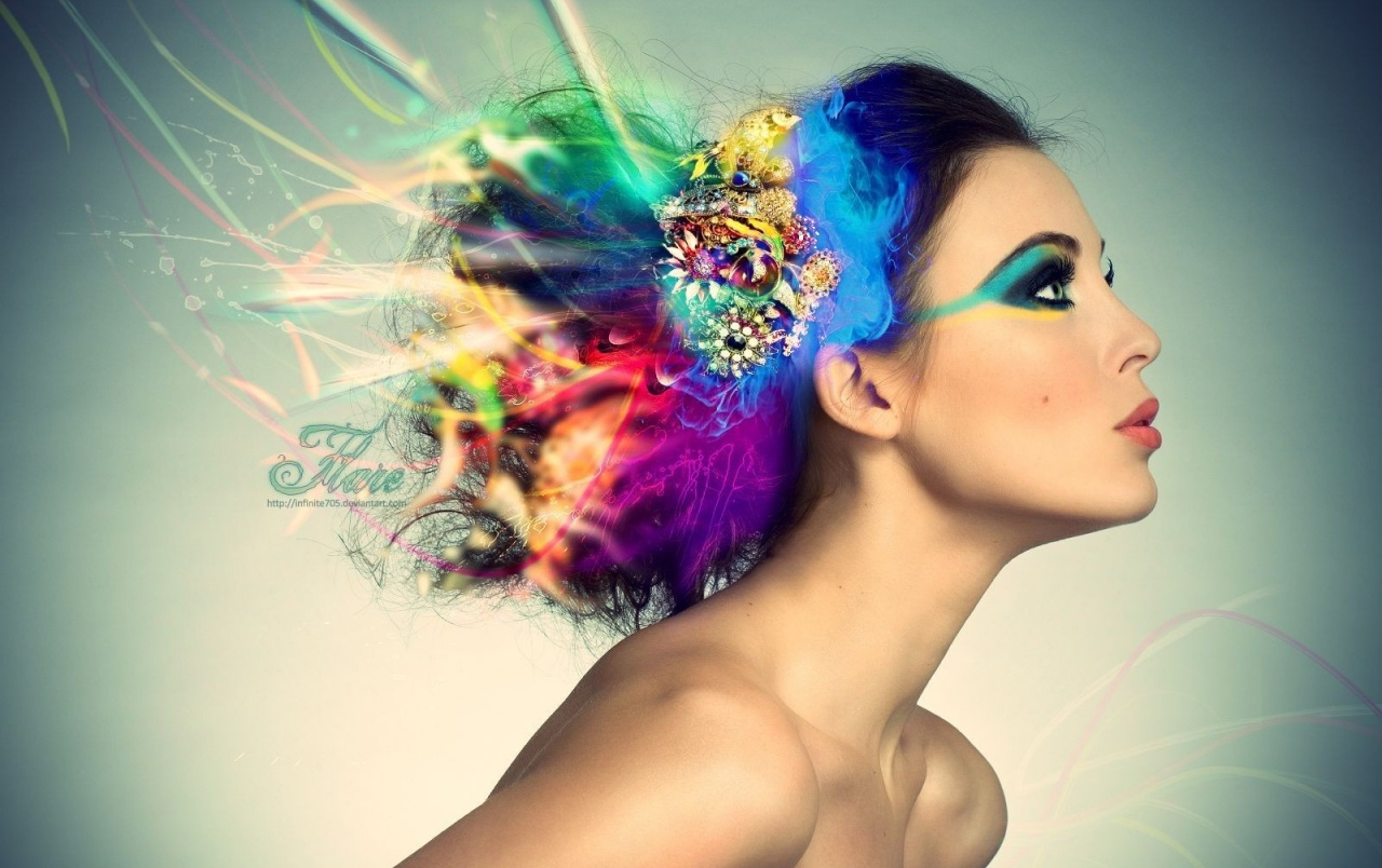 Model With Colorful Hair Wallpapers Model With Colorful Hair Stock