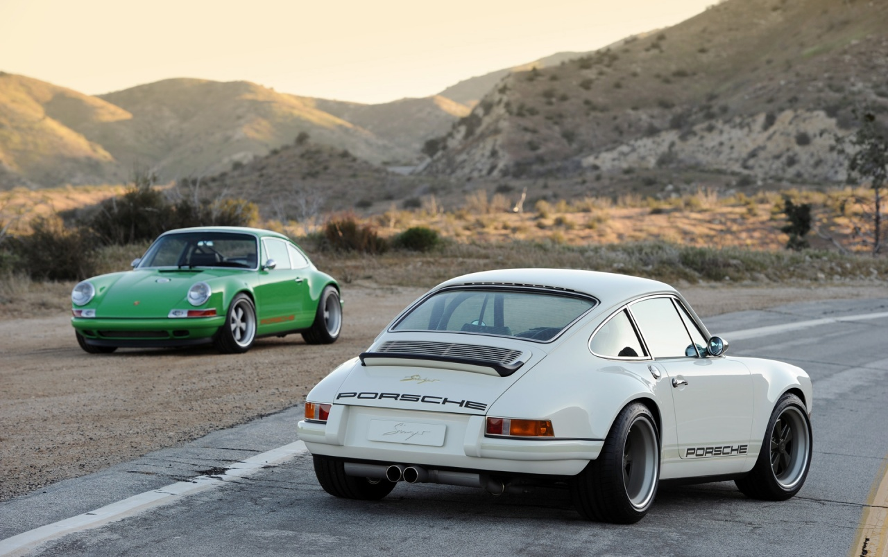 Singer Porsche 911 White Duo wallpapers