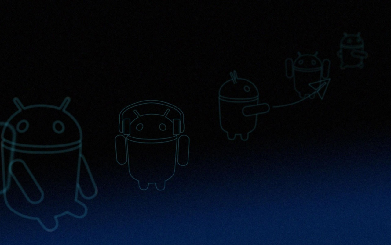 Android 3.0 Honeycomb Blue Linebots wallpapers