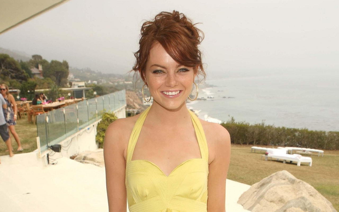 67f8205e7f1 Emma Stone Yellow Dress wallpapers and stock photos