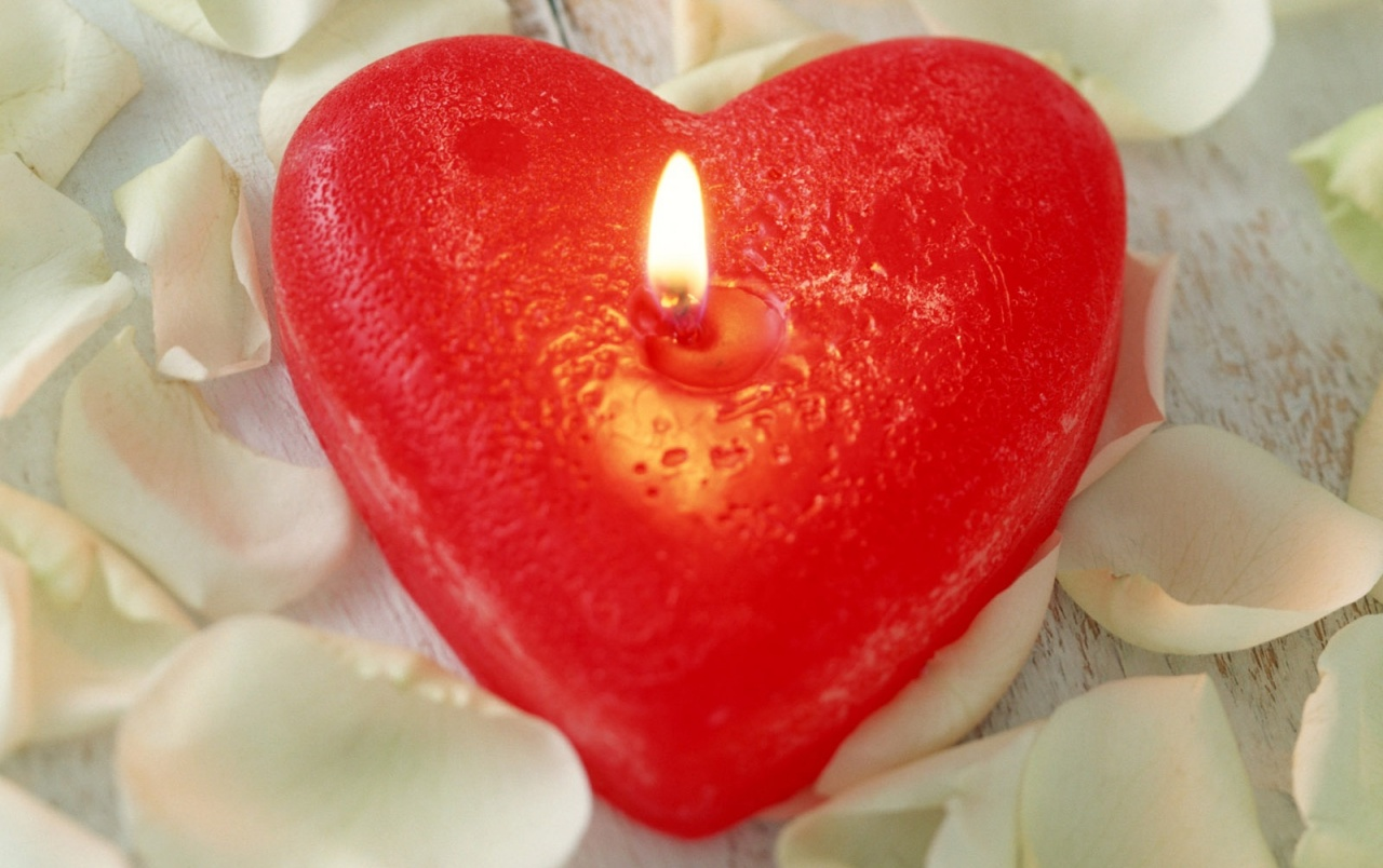 Love candle wallpapers