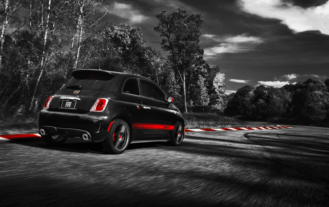 Fiat 500 Abarth Track Wallpapers Fiat 500 Abarth Track Stock Photos