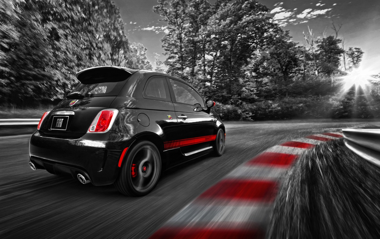 Fiat 500 Abarth Race Track wallpapers  Fiat 500 Abarth Race Track stock photos