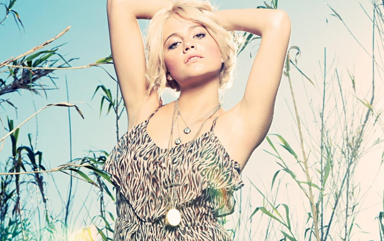 Pixie Lott Animal Print Dress wallpapers
