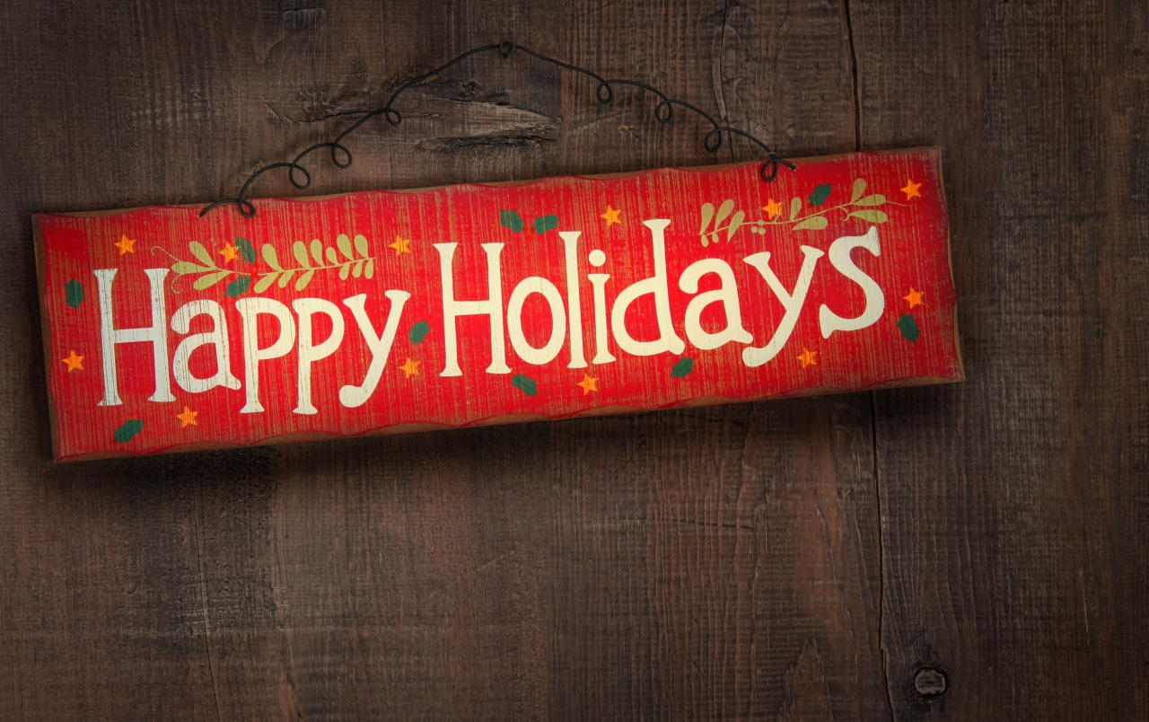 Happy Holidays Sign wallpapers
