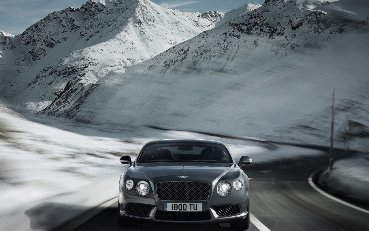 Bentley Continental GT V8 grau Geschwindigkeit wallpapers