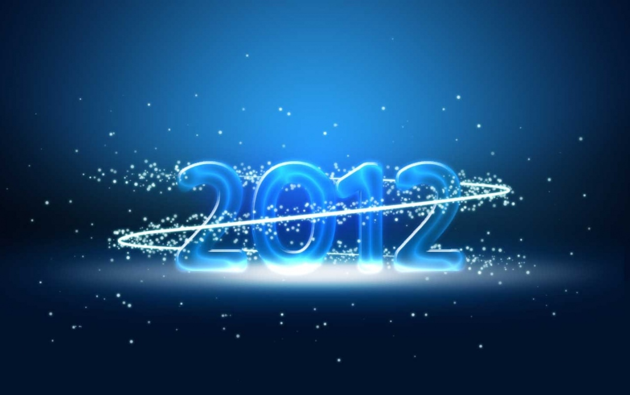wide blue new year 2012 wallpapers