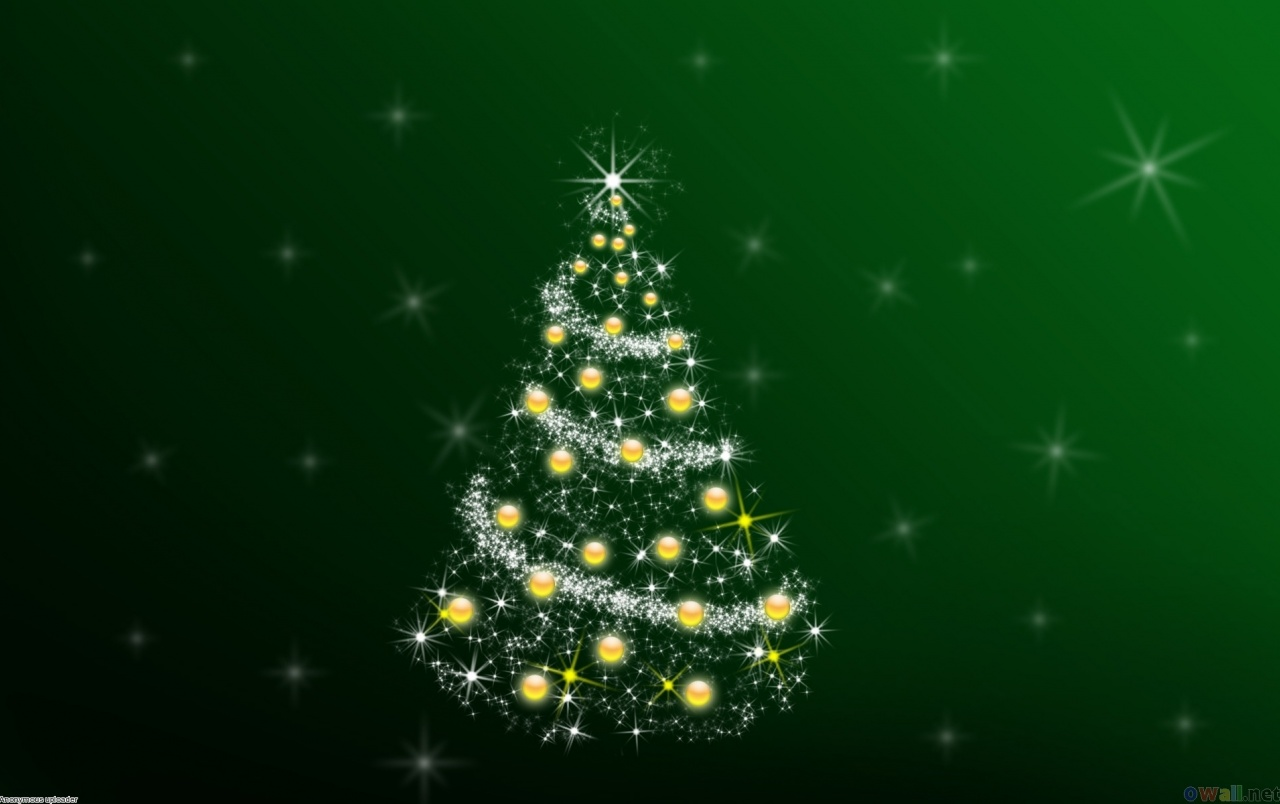 Wide Green Christmas Tree Wallpapers