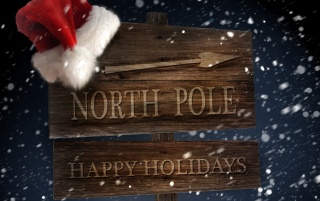 North Pole sign wallpapers