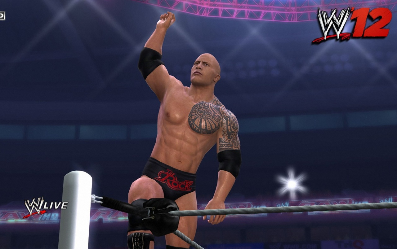 wwe 12 the rock fight wallpapers | wwe 12 the rock fight stock photos