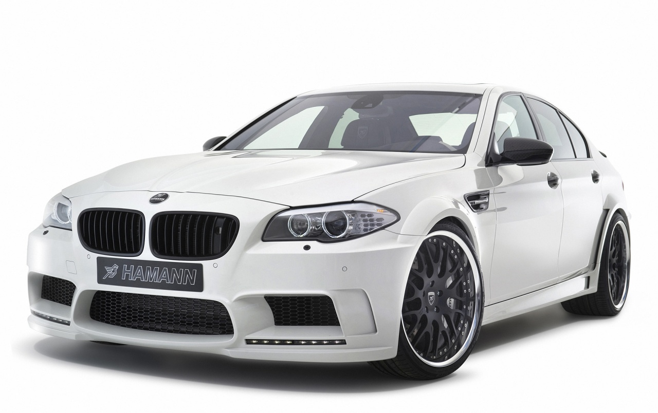 2012 White Hamann BMW M5 Studio Front Angle wallpapers