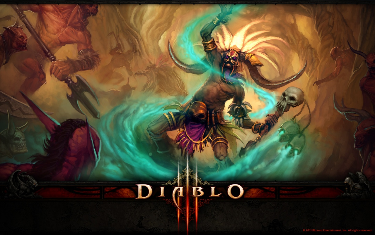 Wide Diablo 3 Witch Doctor Wallpapers