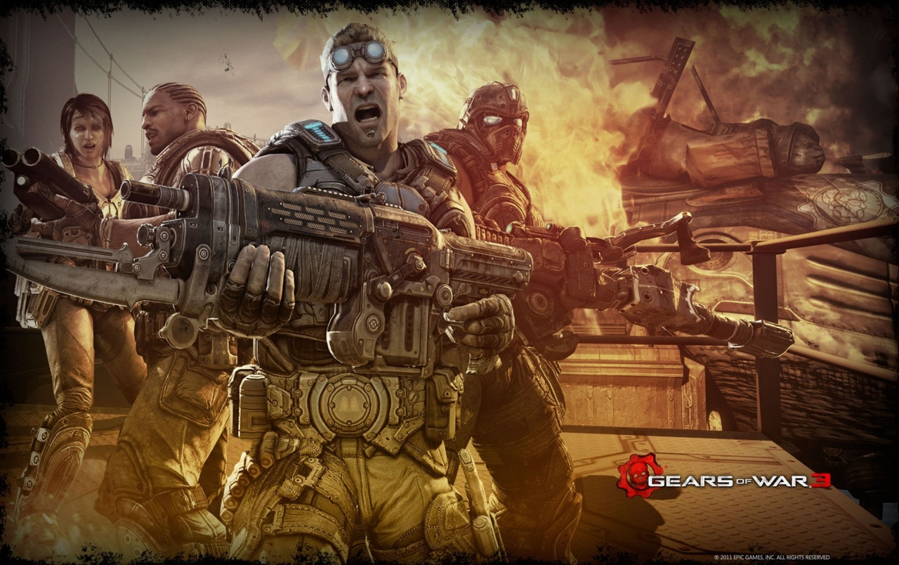 Gears Of War 3 Theme Wallpapers Gears Of War 3 Theme Stock Photos
