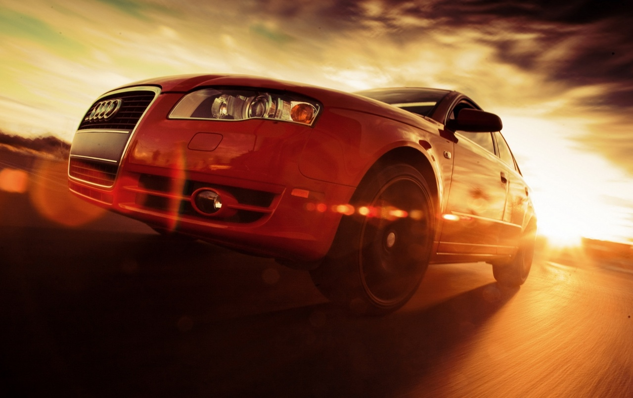 Red Audi Rs4 Close Up Speed Wallpapers Red Audi Rs4 Close Up Speed