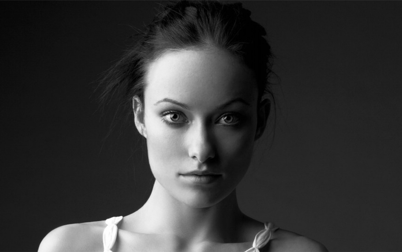 Olivia Wilde Black And White Portrait Wallpapers Olivia
