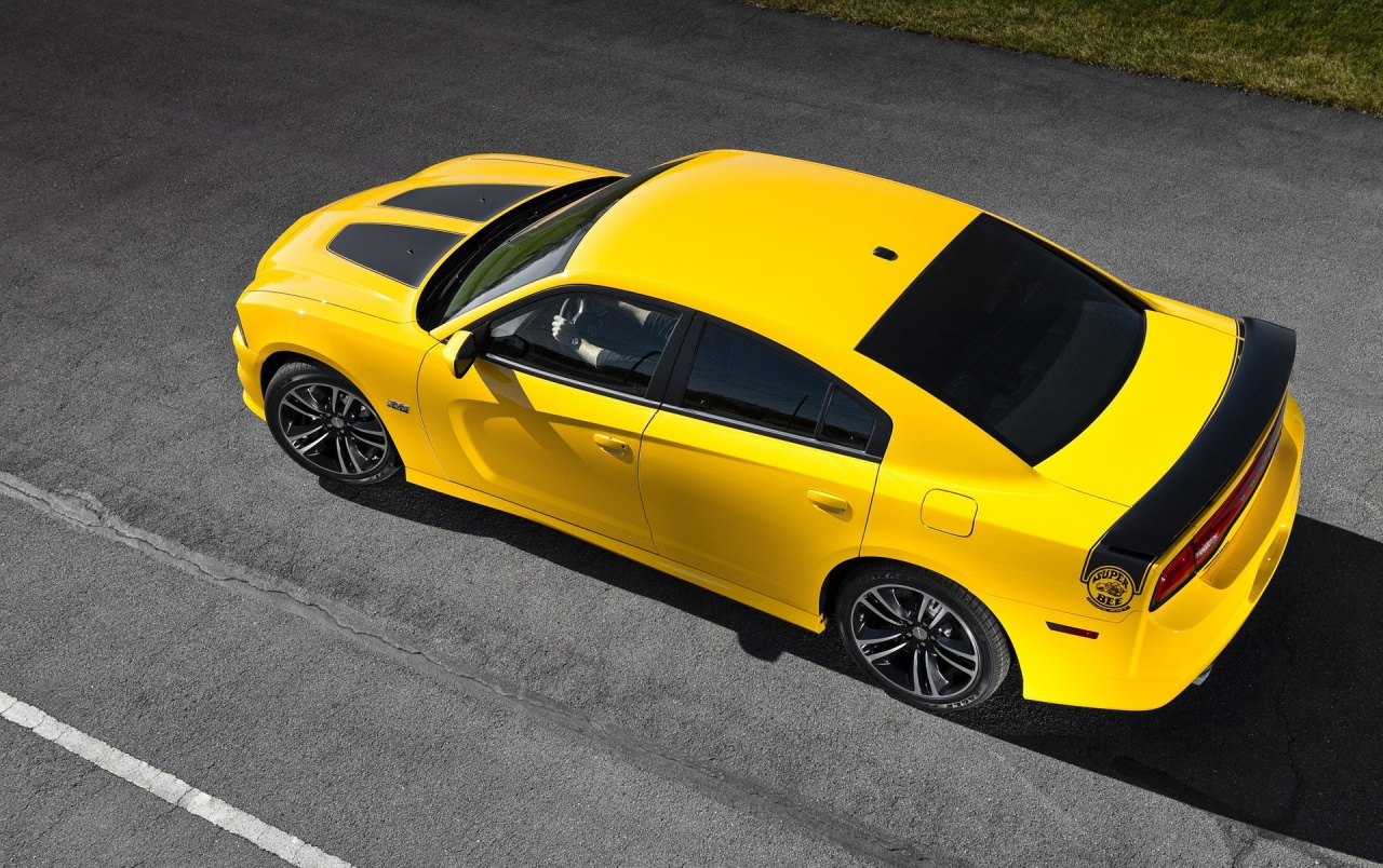 Yellow Superbee Dodge Charger wallpapers