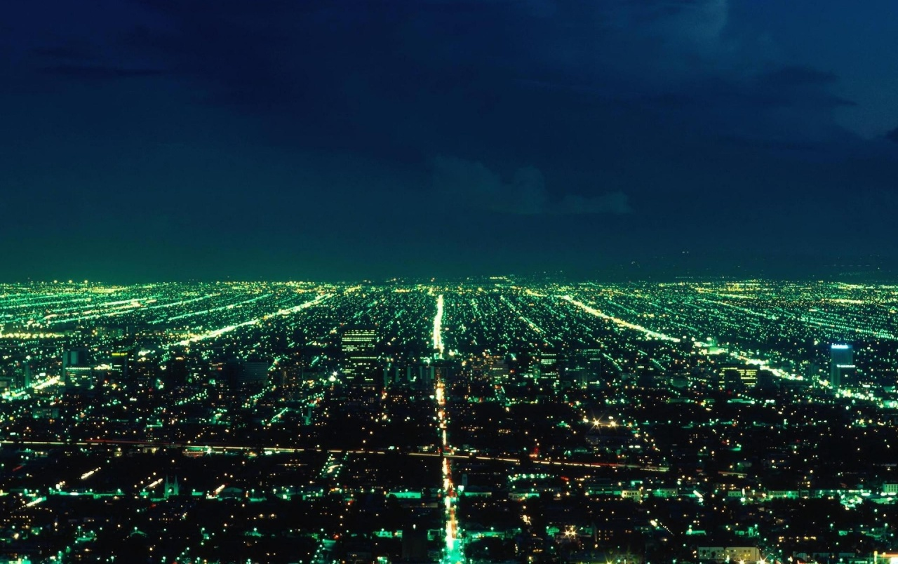 City Skyline bei Nacht wallpapers