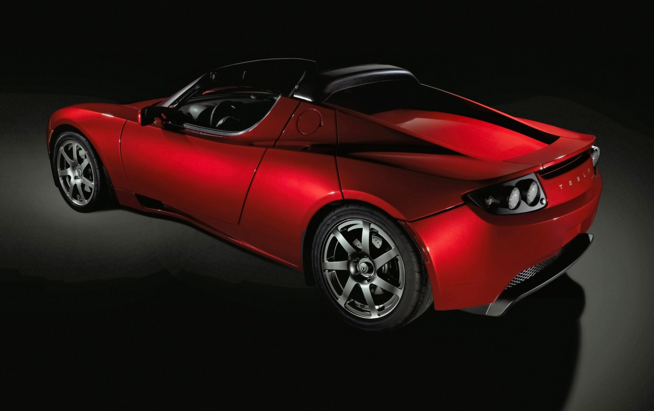 Tesla Roadster rear wallpapers