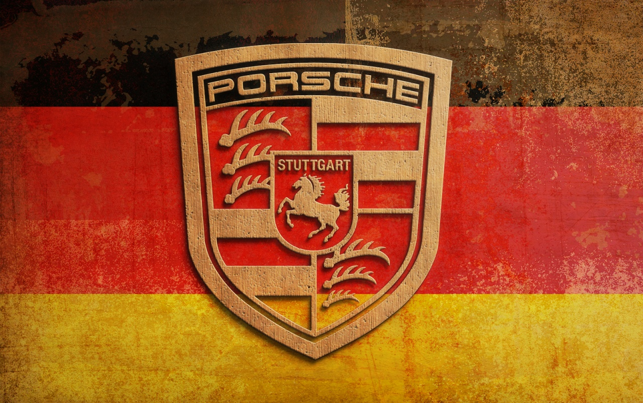 Original Plywood Porsche Logo Wallpapers