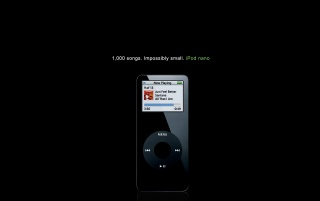 Negro para el iPod nano wallpapers